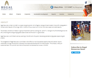 Regal Resources Limited Website Link