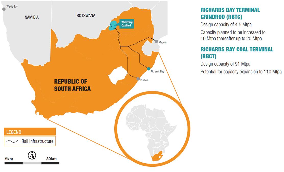 SA Operations map