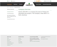 Azonto Petroleum Ltd Website Link