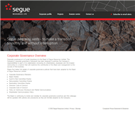 Segue Resources Limited Website Link