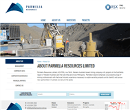 Parmelia Resources Limited Website Link