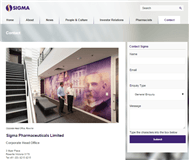 Sigma Pharmaceuticals Limited Website Link