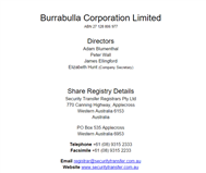 Burrabulla Corporation Limited Website Link