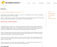 Sunbird Energy Limited Website Link