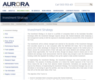 Aurora Dividend Income Trust (Managed Fund) Website Link
