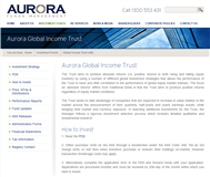 Aurora Global Income Trust Website Link