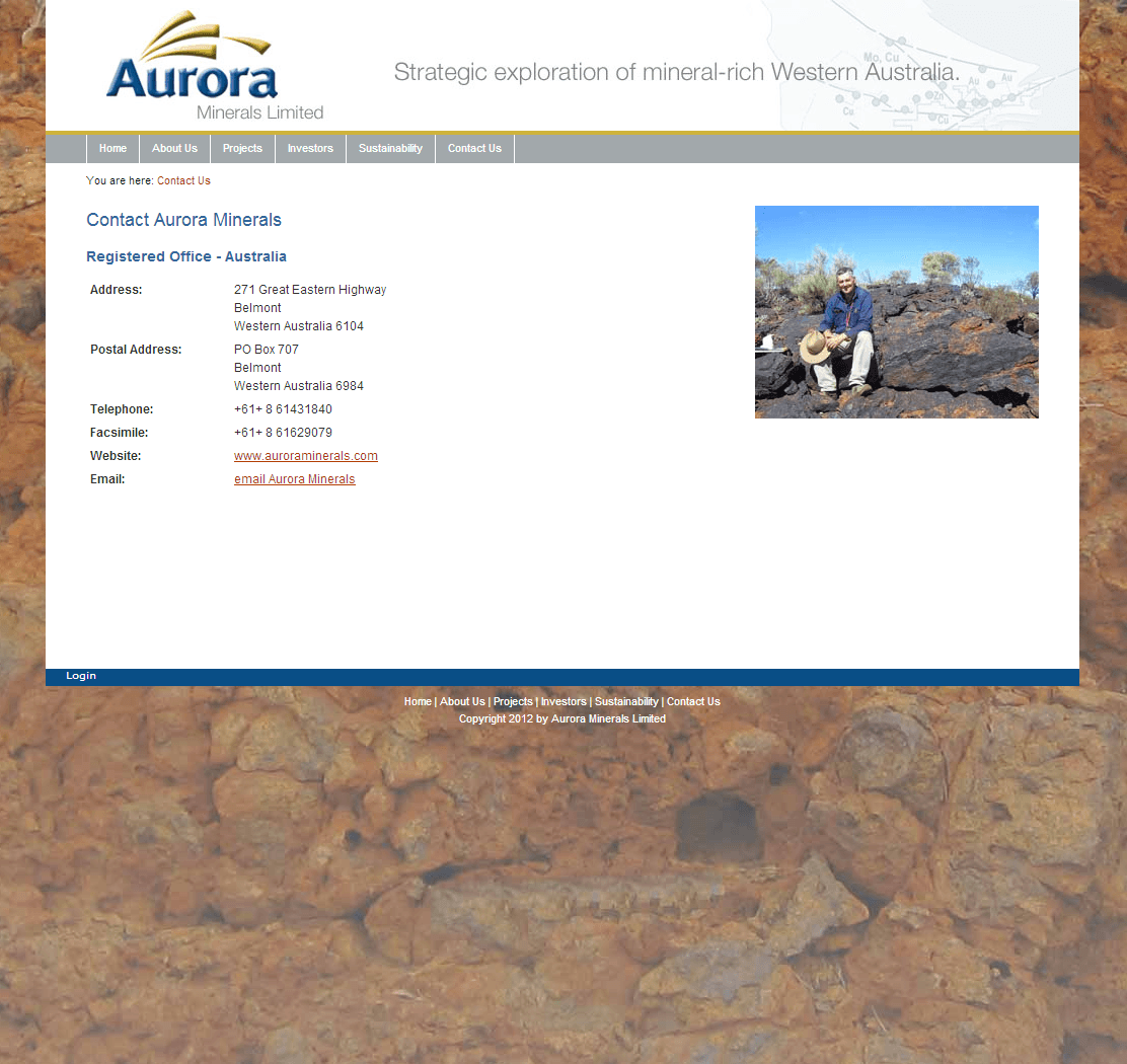 Aurora Minerals Limited Website Link