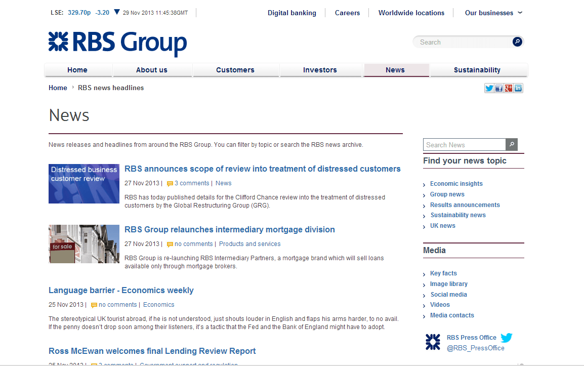 Royal Bank of Scotland NV Website Link
