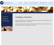 Timpetra Resources Limited Website Link