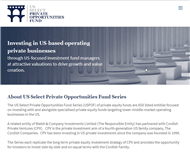 US Select Private Opportunities Fund II Website Link
