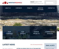 Waratah Resources Limited Website Link