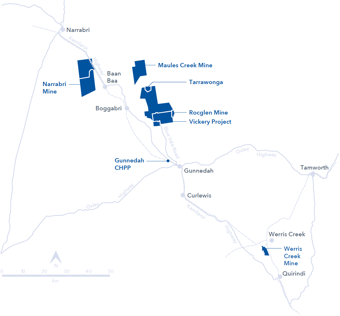 Mine Site Map Example: Whitehaven Coal Limited