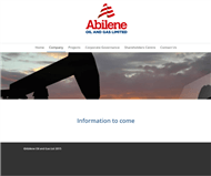 Abilene Oil and Gas Limited Website Link