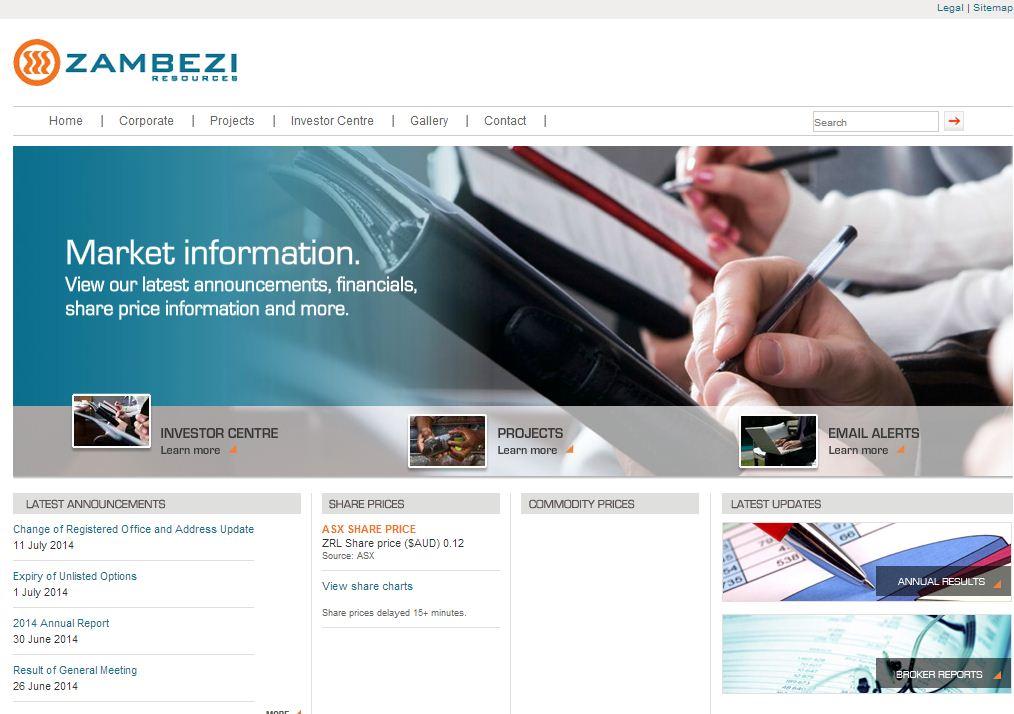 Zambezi Resources Limited Website Link