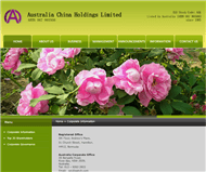 Australia China Holdings Limited Website Link