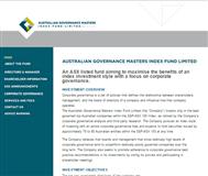 Australian Governance Masters Index Fund Limited Website Link