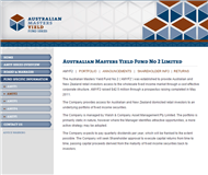 Australian Masters Yield Fund No 2 Limited Website Link
