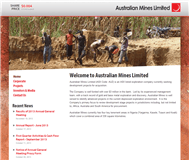 Australian Mines Limited Website Link