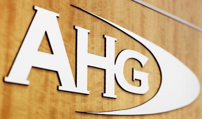 AHG Logo on wooden background