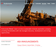 Andromeda Metals Limited Website Link