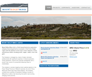 Mount Ridley Mines Limited Website Link