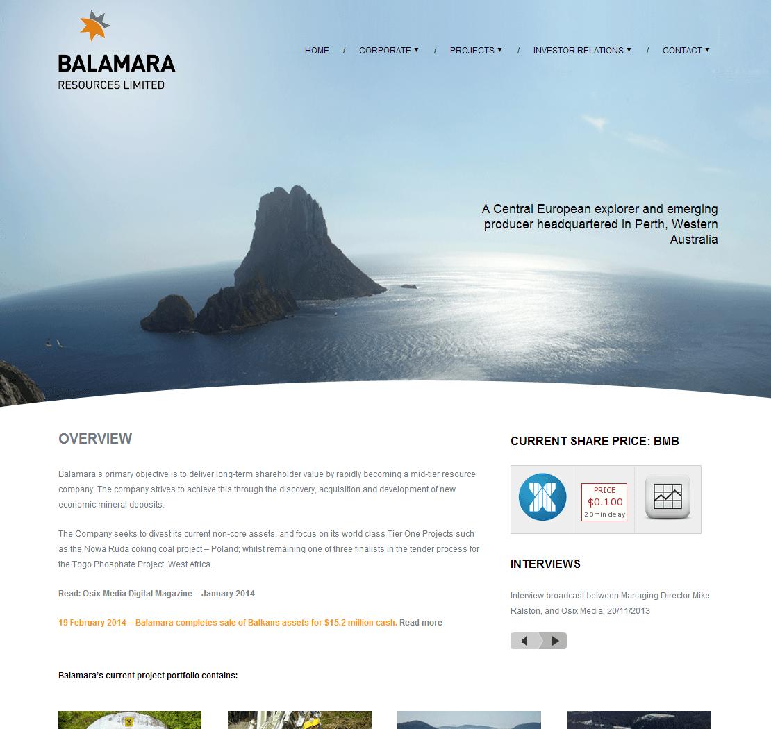 Balamara Resources Limited Website Link