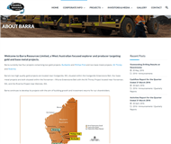 Barra Resources Limited Website Link