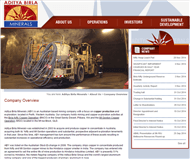 Aditya Birla Minerals Limited Website Link