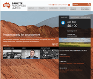 Bauxite Resources Limited Website Link