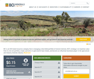 BCI Minerals Ltd Website Link