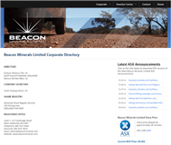 Beacon Minerals Limited Website Link