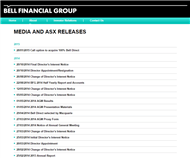 Bell Financial Group Limited Website Link
