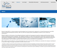 Biotech Capital Limited Website Link