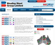 Bisalloy Steel Group Limited Website Link