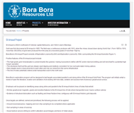 Bora Bora Resources Limited Website Link