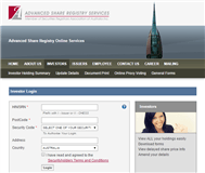 Advanced Share Registry Limited Website Link