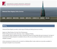 Advanced Share Registry Limited Website Link