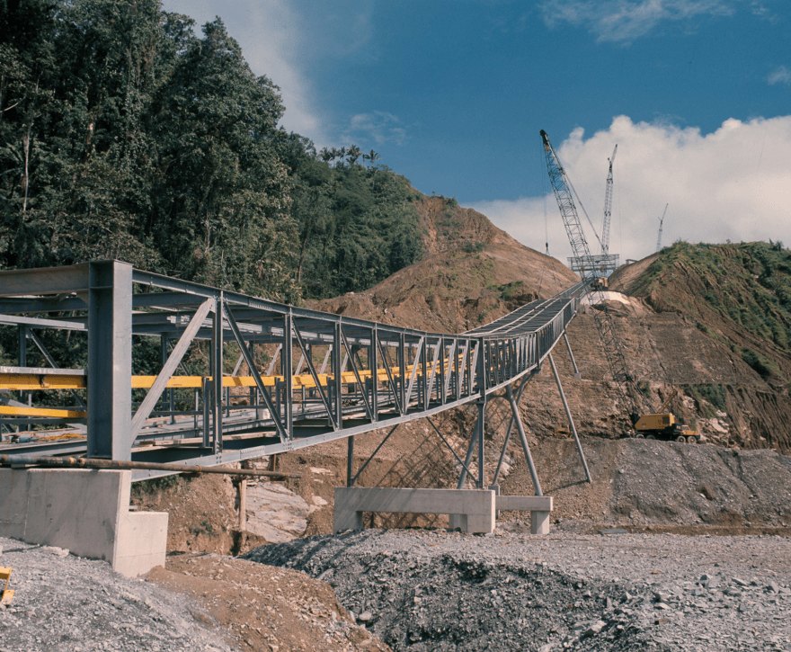 A conveyor commonly used by mining companies Australia.