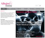 Allegra Orthopaedics Limited Website Link