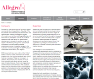 Allegra Orthopaedics Limited Website Link