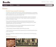 Breville Group Limited Website Link