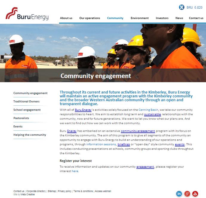 Buru Energy Limited Website Link