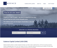 Cadence Capital Limited Website Link