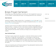 Canyon Resources Limited Website Link