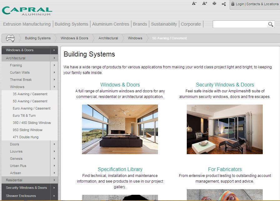 Capral Limited Website Link