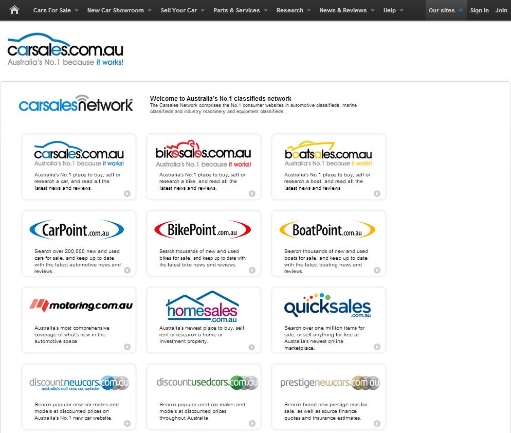 Carsales.com Limited Website Link