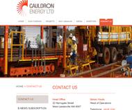 Cauldron Energy Limited Website Link