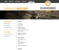 Celsius Resources Limited Website Link