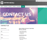 Centrex Metals Limited Website Link