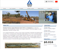 Chinalco Yunnan Copper Resources Ltd Website Link